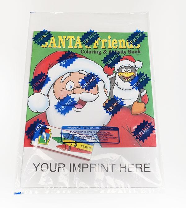 Coloring Set Santa And Friends Coloring Book Fun Pack 0502fp - Coloring-book-fun
