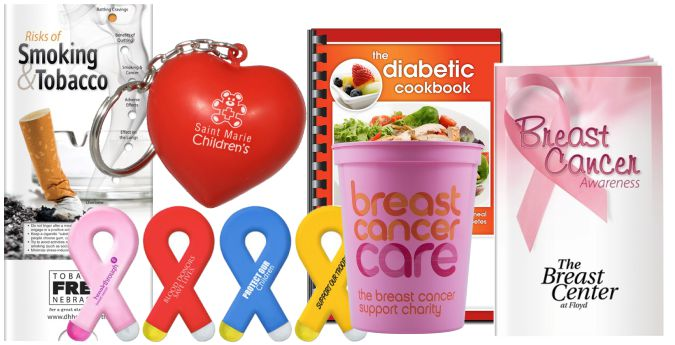 Logo Imprinted Health Awareness Promotional Gifts