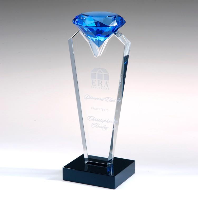 Award- Awards, Trophy,Blue Rising Diamond 8