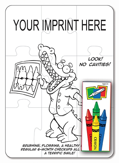 COLORING PUZZLE SET - Dental (9 Piece)