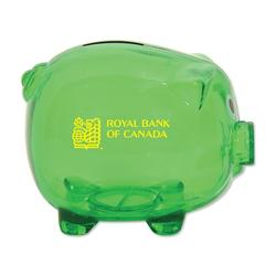 Classic Piggy Bank - Translucent Green