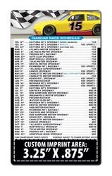 Magnet Sport Schedules - 3.5x6 NASCAR Round Corners - 25 mil.