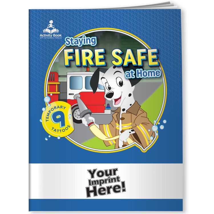 Children\'s Activity Book w/ Temporary Tattoos - Staying Fire Safe at ...