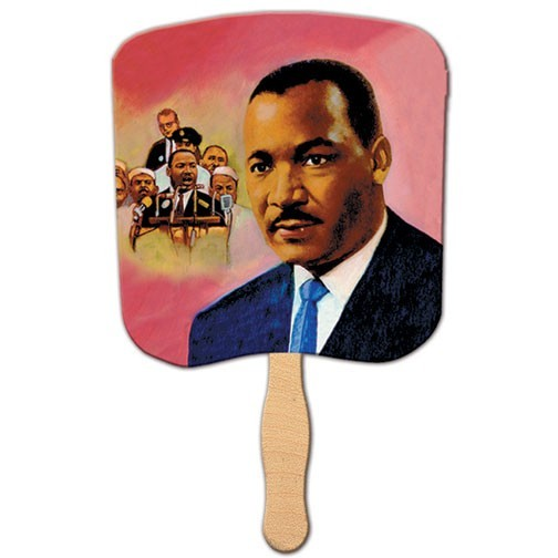 Dr Martin Luther King Jr Fan Full Color Film Laminated Rf 910 Lf 20 Customprintedfans Com