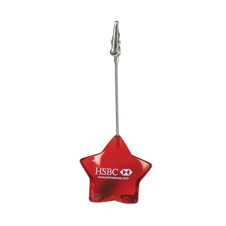 Clearance Item! Star Memo Holder w/Steel Clip
