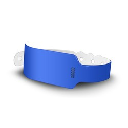 Soft Plastic Wide Face Wristbands - STOCK