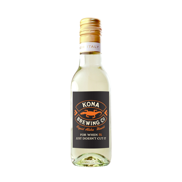 Labeled Mini Pinot Grigio White Wine with Full Color Custom Label