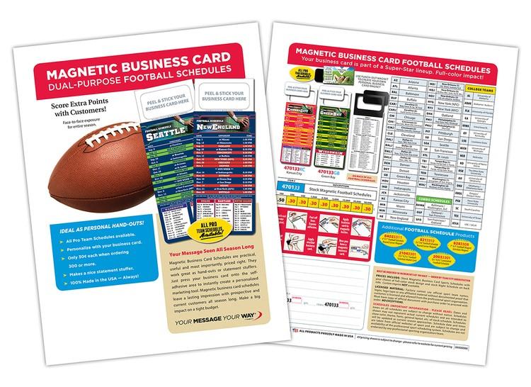 FREE Marketing Flyer - Football Schedules (470133)