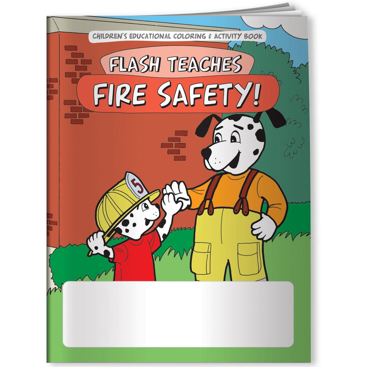 Coloring Book - Flash Teaches Fire Safety! - CB1101 | Ango Promo