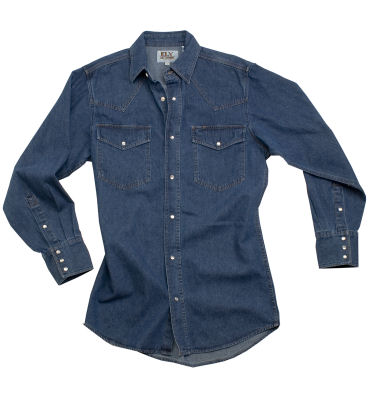 Long Sleeve Denim Western Wear Shirt