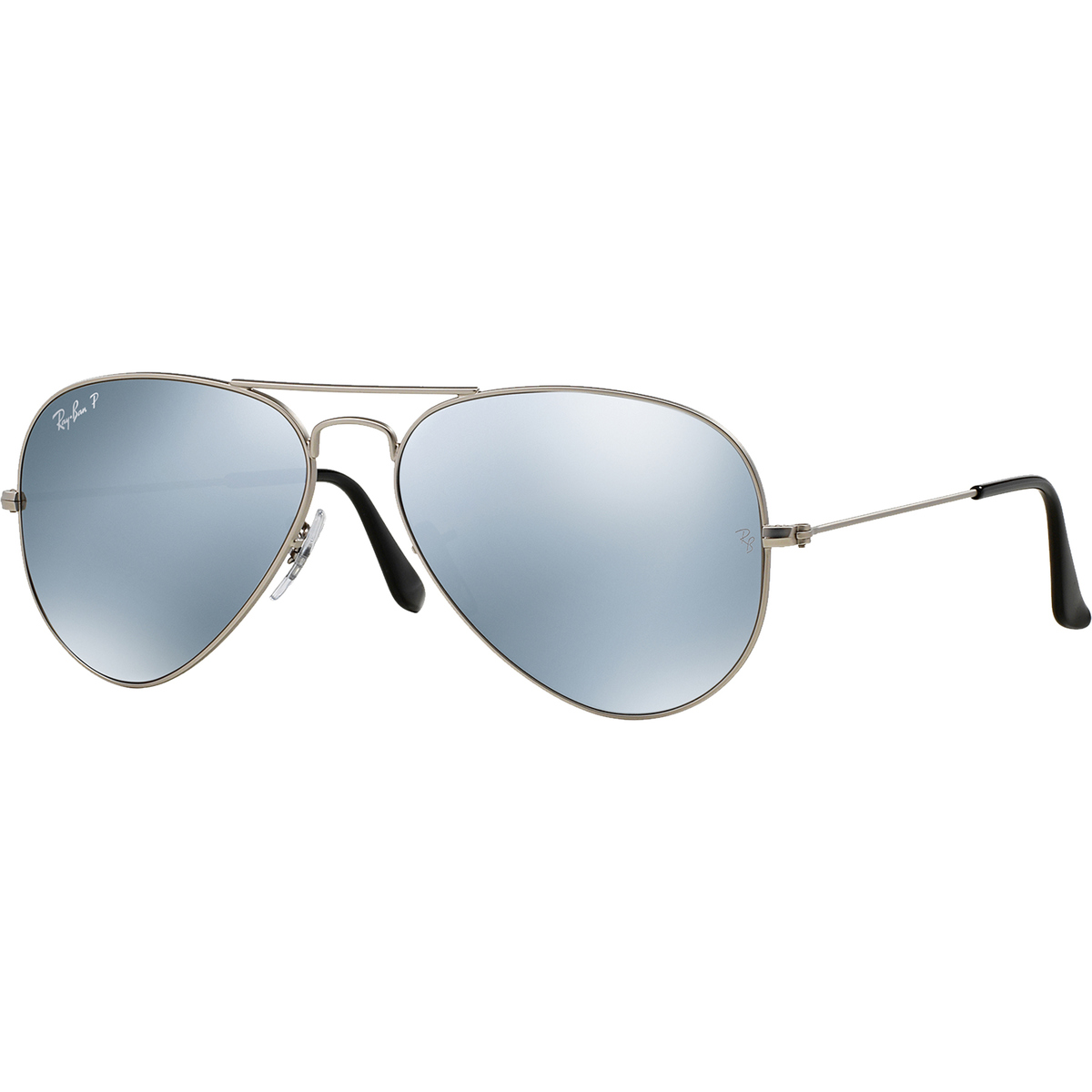 6be7cc0c15 Ray-Ban Polarized Aviator Sunglasses - Silver - 0RB3025019W358 ...