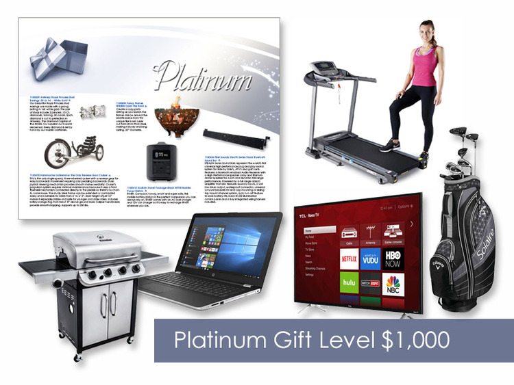 $1,000 Gift of Choice (Platinum Level) Gift Booklet
