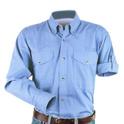 Cotton Poplin Fishing Shirt - Long Sleeve - Fishing/Angler Sportsman Shirt