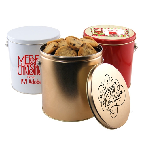 1 Gallon Gift Tin with Cookies