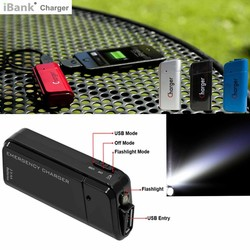 iBank (R) AA Battery Powered Smart Phone Charger with Super Bright Flashlight