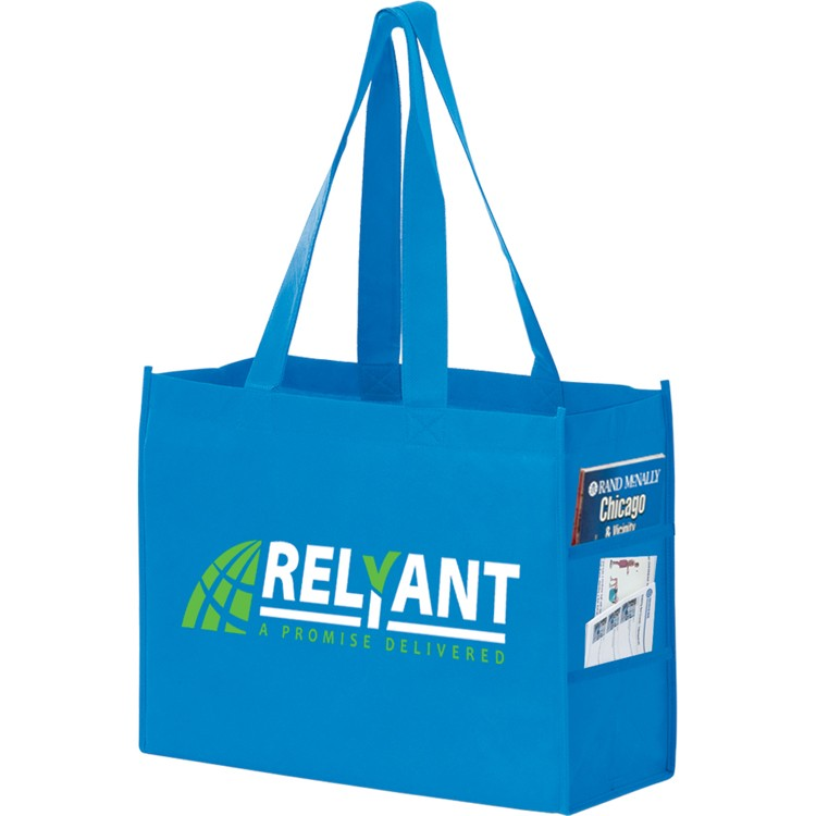 Non-woven Polypropylene Shoulder Tote with Side Pockets