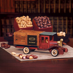 Classic 1925 Stake Truck with Milk Chocolate Almonds & Extra Fancy Jumbo Cashews - Gourmet Food Gift