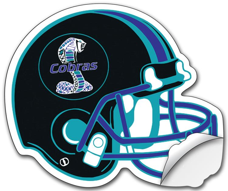 Sticker / Decal - UV-Coated Vinyl - 8.5x10.125 Football Helmet Shape
