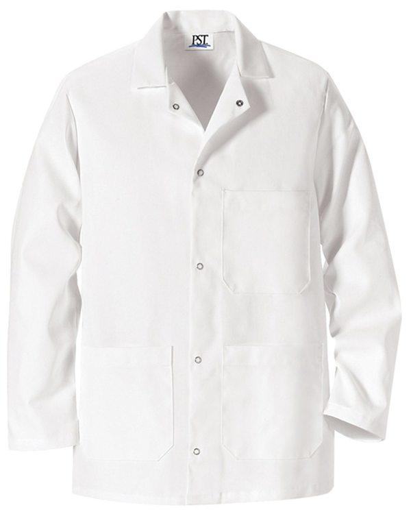 Gripper Front Short Butcher Coat