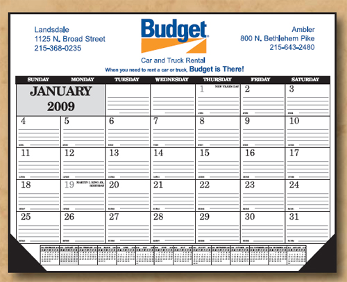 The Economy Line Desk Calendar (Ruled)