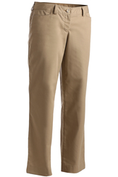 MECHANICAL STRETCH MID-RISE FF PANT - LADIES