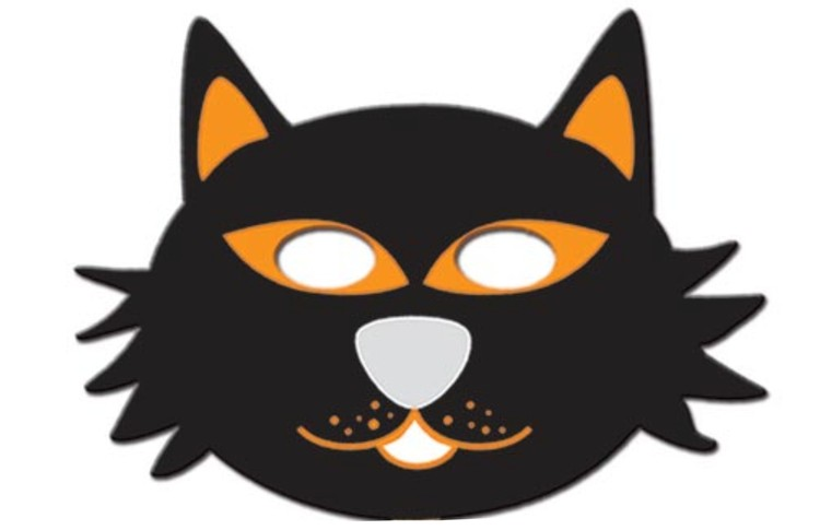 Halloween Mask - Cat with Elastic Band