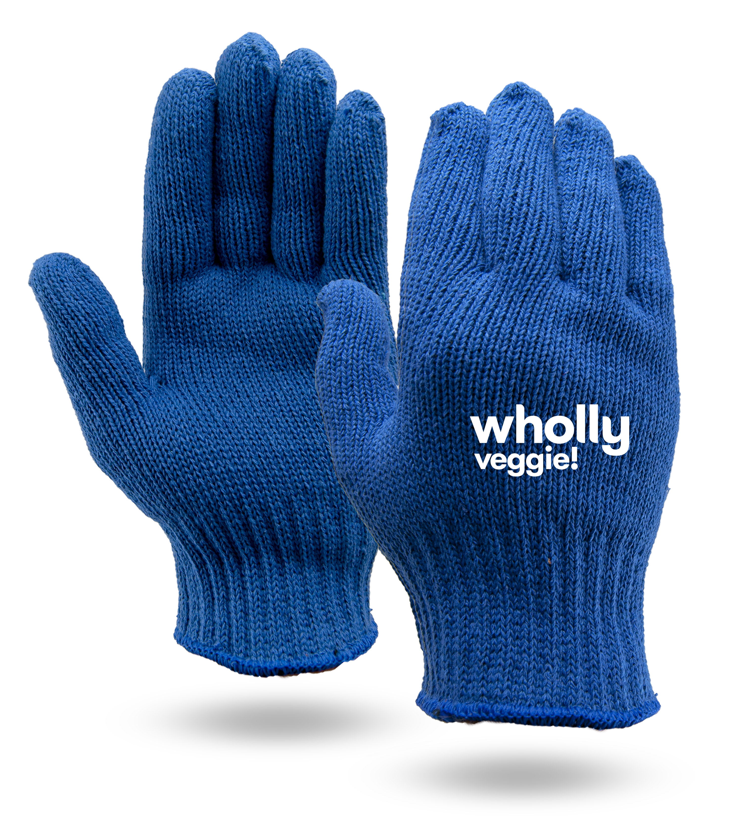 Royal Blue Knit Gloves