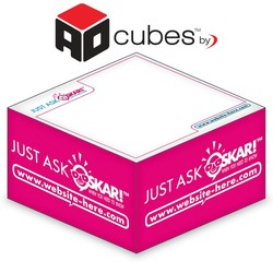 Ad Cubes™ - Memo Notes - 3.875x3.875x1.9375-1 Color, 1 Design on Sides