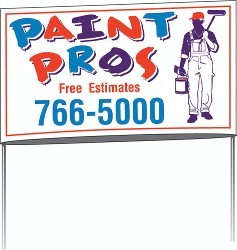 Custom Printed Poly Bag Yard Signs And Lawn Signs For