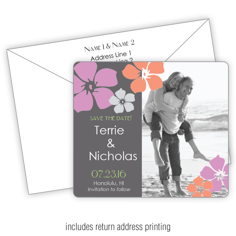 3.5x4 Wedding Magnet with FREE Printed Envelopes - FI #236
