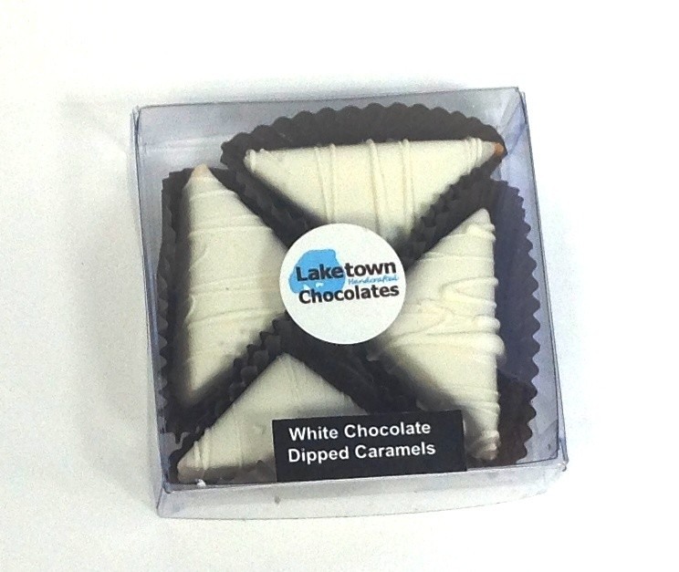 4 Pc White Chocolate Caramels Box