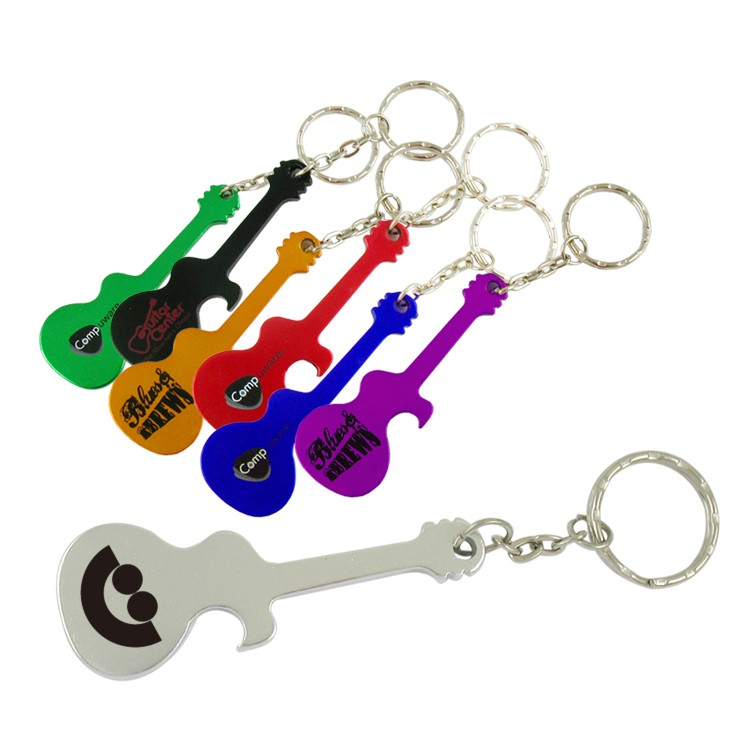 Guitar Bottle Opener W/Key Chain