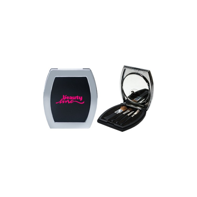 Compact Mirror & Brush Set
