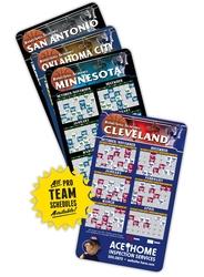 Magnet Sport Schedules - 3.5x6 Basketball Round Corners - 25 mil.