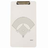 Legal Size Clipboard w/ Stock Sports Field Imprint - Wire Clip