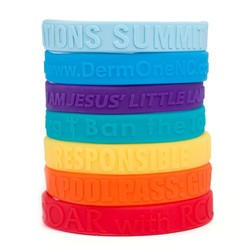 1/2 Embossed Silcone Wristband