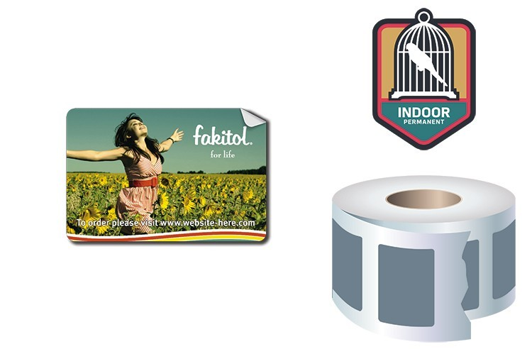 Roll Stickers / Decal - Indoor Permanent - 2.5x3 Rectangle Shape