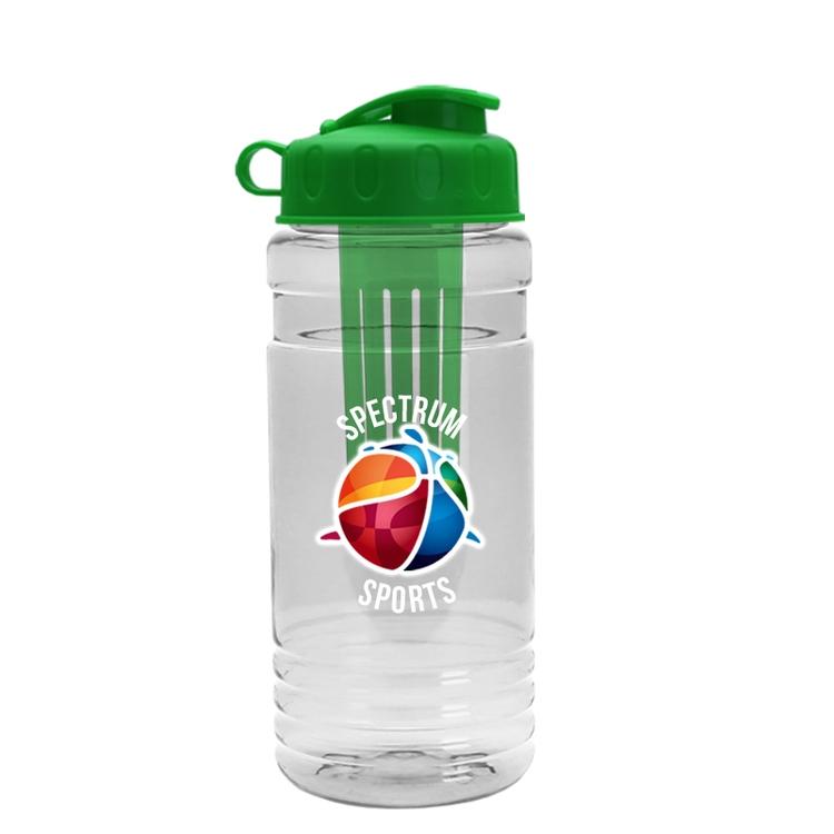 20 Oz. Tritan Infuser Bottle W/ Flip Top Lid - Digital
