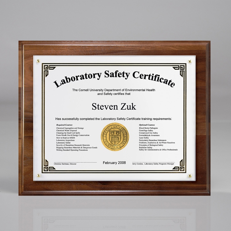 Certificateoverlay Plaque For 7 X 5 Insert C3501awng Design