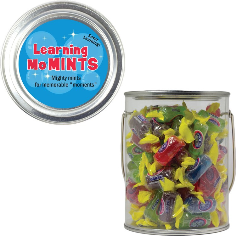 Clear Plastic Paint Can Pail with Jolly Ranchers