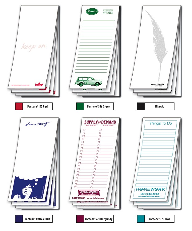 Scratch Pad / Notepad - 1 Color / 25 Sheets - 3.5x8.5