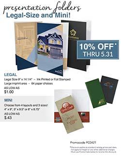 Legal and Mini Folder Sale from Warwick