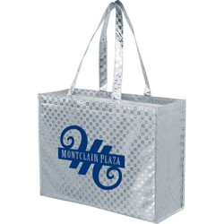 nonwoven Metallic Polypropylene Grocery Totes - LP16613