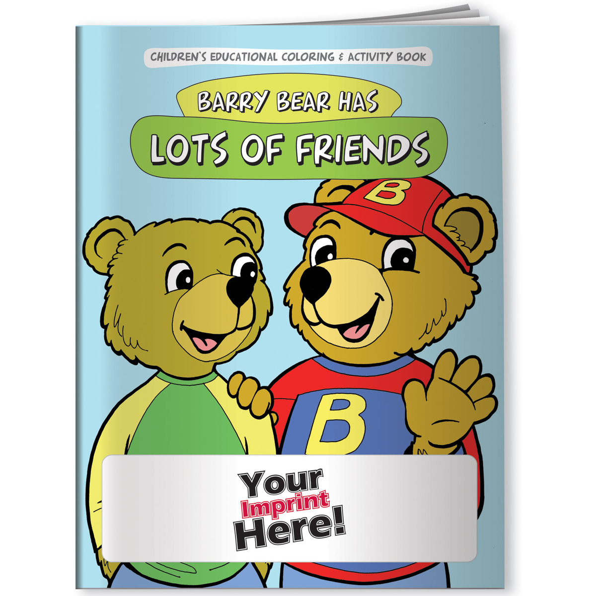 Children's Coloring Book - Barry Bear Has Lots of Friends