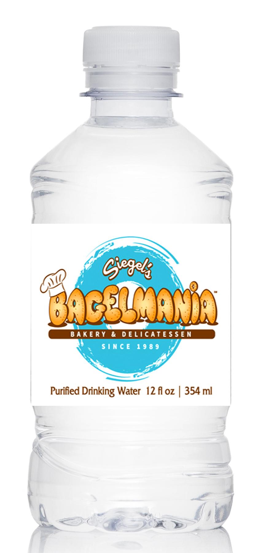 Purified, 12 oz. Chubby Plastic Water Bottle, Flat Cap