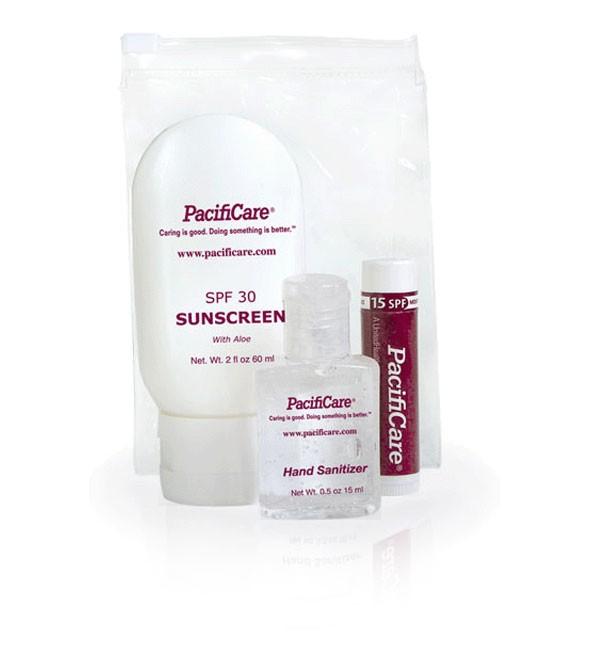Kit SPF 30 2.0 oz Sunscreen, 0.5 oz Sanitizer, Moisture SPF 15 Lip Balm