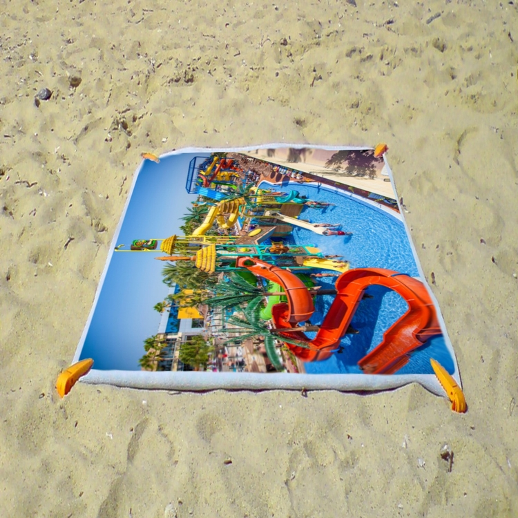 Beach Towel 30 x 60 velour fabric on the front and Terry loop cotton back. Absorbent and quick dry