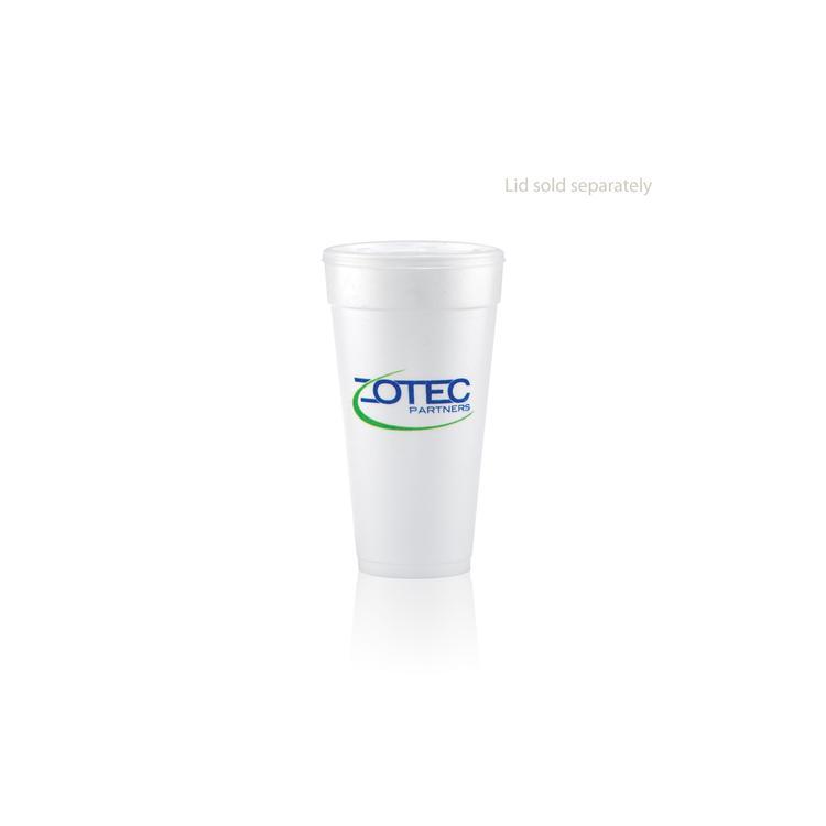 24 oz Foam Cup - White - Hi-Speed