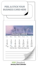 Magnetic Standard 12-Month Calendar (MBC) - Jan. 2018 w/Cover