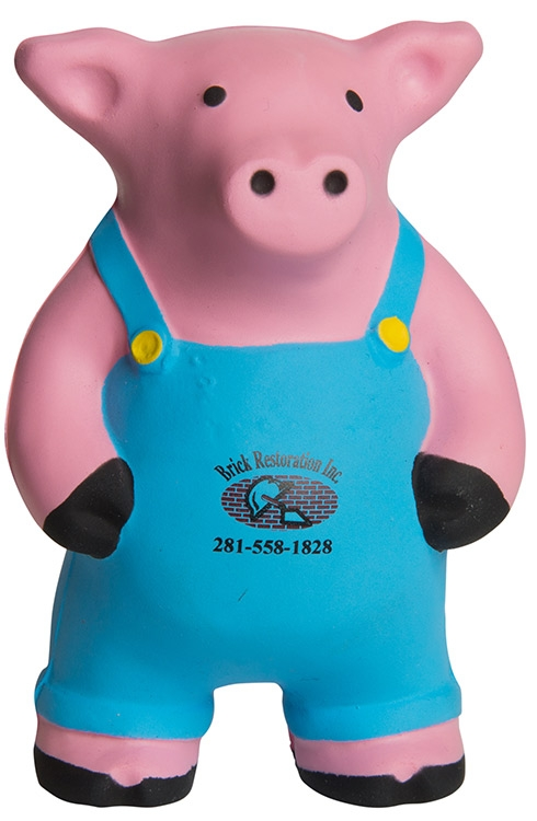 Farmer Pig Squeezies Stress Reliever